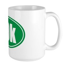 10k green oval Mug