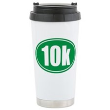 10k green oval Travel Mug