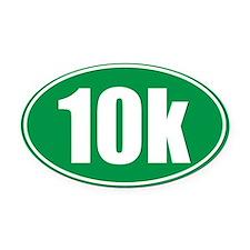 10k green oval Oval Car Magnet