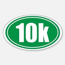 10k green oval Decal