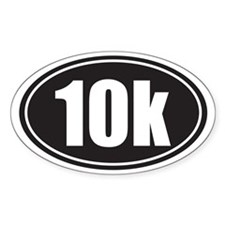 10k black oval Decal