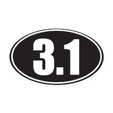 3.1 black oval Oval Car Magnet