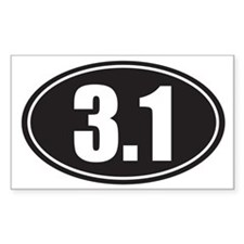 3.1 black oval Decal