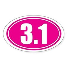 3.1 pink oval Decal