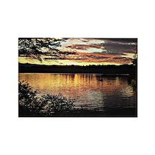 Kezar Lake, Maine, beautiful scen Rectangle Magnet