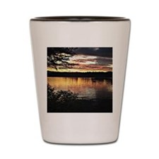 Kezar Lake, Maine, beautiful scenic lak Shot Glass