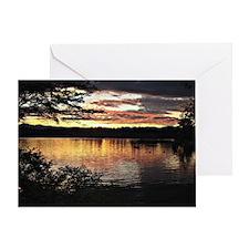 Kezar Lake, Maine, beautiful scenic  Greeting Card