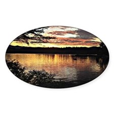Kezar Lake, Maine, beautiful scenic Decal