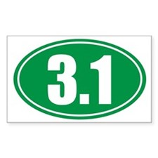 3.1 green oval Decal