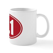 3.1 red oval Mug