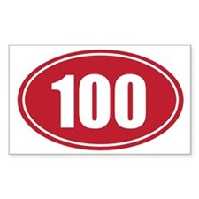 100 red oval Decal