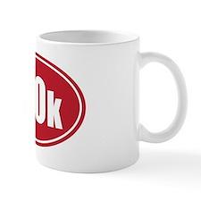 100k red oval Mug
