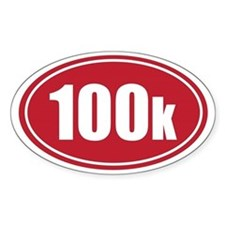 100k red oval Decal