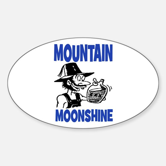 MOUNTAIN MOONSHINE Sticker (Oval)
