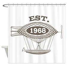 Vintage Birthday Est 1968 Shower Curtain