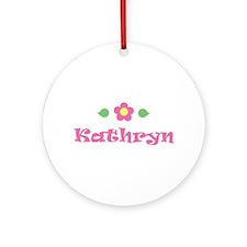 "Pink Daisy - ""Kathryn"" Ornament (Round)"