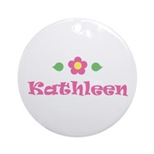 "Pink Daisy - ""Kathleen"" Ornament (Round)"