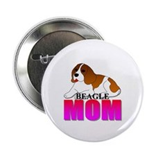 """Beagle Mom 2.25"""" Button (100 pack)"""
