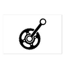 Bike wheel gear Postcards (Package of 8)