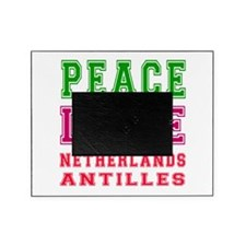 Peace Love Netherlands Antilles Picture Frame