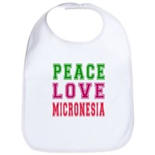 Peace Love Micronesia Bib