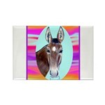 Horses and Mules Rectangle Magnet (100 pack)