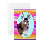 Horses and Mules Greeting Cards (Pk of 10)