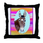 Horses and Mules Throw Pillow