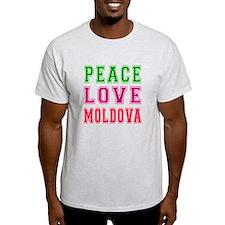 Peace Love Moldova T-Shirt