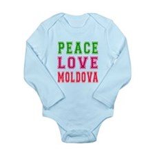 Peace Love Moldova Long Sleeve Infant Bodysuit