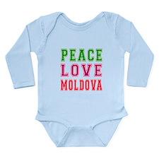 Peace Love Moldova Onesie Romper Suit