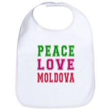 Peace Love Moldova Bib