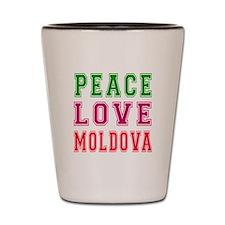 Peace Love Moldova Shot Glass