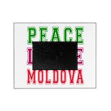 Peace Love Moldova Picture Frame