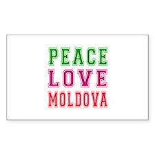 Peace Love Moldova Decal