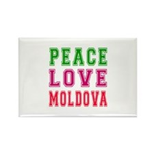 Peace Love Moldova Rectangle Magnet