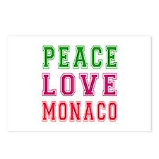 Peace Love Monaco Postcards (Package of 8)