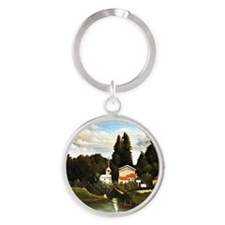 Rousseau: The Mill at Alfort Round Keychain