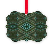 Olive Green Diamond pattern Ornament