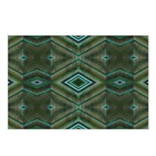 Olive Green Diamond patte Postcards (Package of 8)
