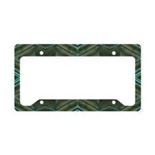 Olive Green Diamond pattern License Plate Holder