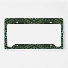 Olive Green Diamond pattern License Plate Holder
