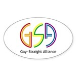 GSA Neon Oval Sticker