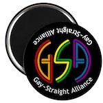 "GSA Neon Black 2.25"" Magnet (100 pack)"
