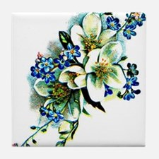 With Love - Blue Tile Coaster