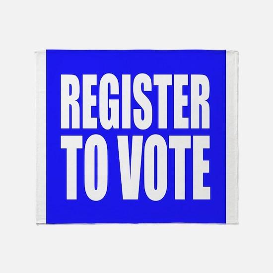 Register To Vote Throw Blanket