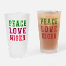 Peace Love Niger Drinking Glass