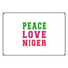 Peace Love Niger Banner