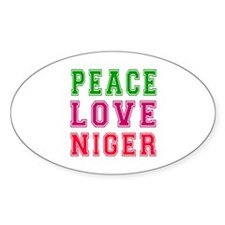 Peace Love Niger Decal