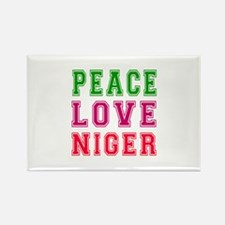 Peace Love Niger Rectangle Magnet